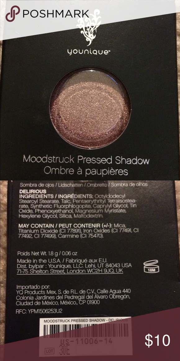 """Younique pressed shadow single in """"Delirious"""" Beautiful rose gold shade to make any and all looks POP."""