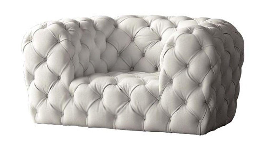 Baxter Chester Moon Designer Paola Navone Tufted Leather Sofa White Leather Sofas Luxury Italian Furniture