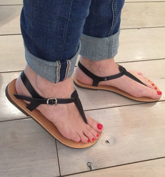 e353967db9df4 T-Strap leather sandals Made in Greece,FREE SHIPPING in the USA ...