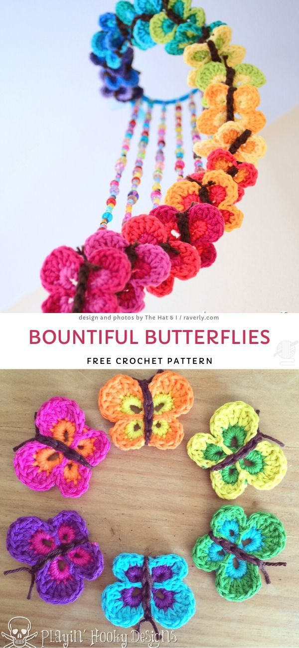 Photo of Bountiful Butterflies Free Crochet Pattern