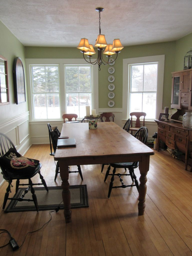 Surry Farmhouse with Lovely Gardens Rustic dining table