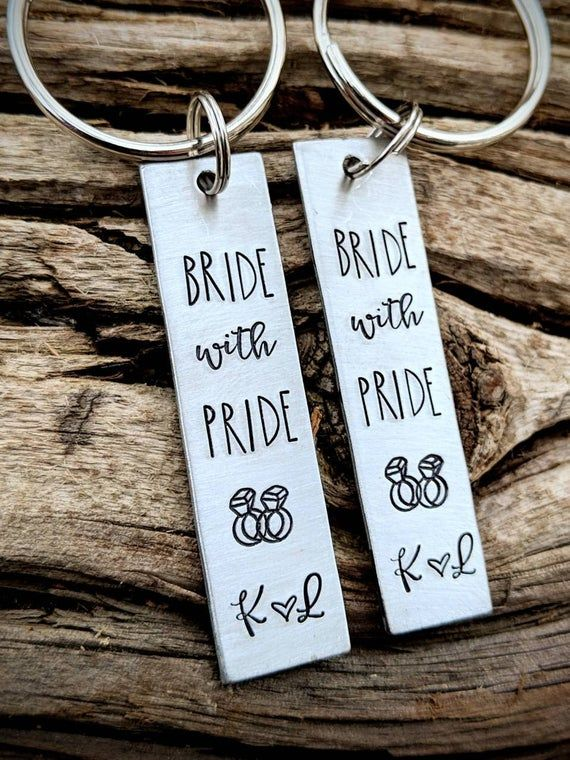 Personalized hand stamped lesbian wedding gifts. Custom