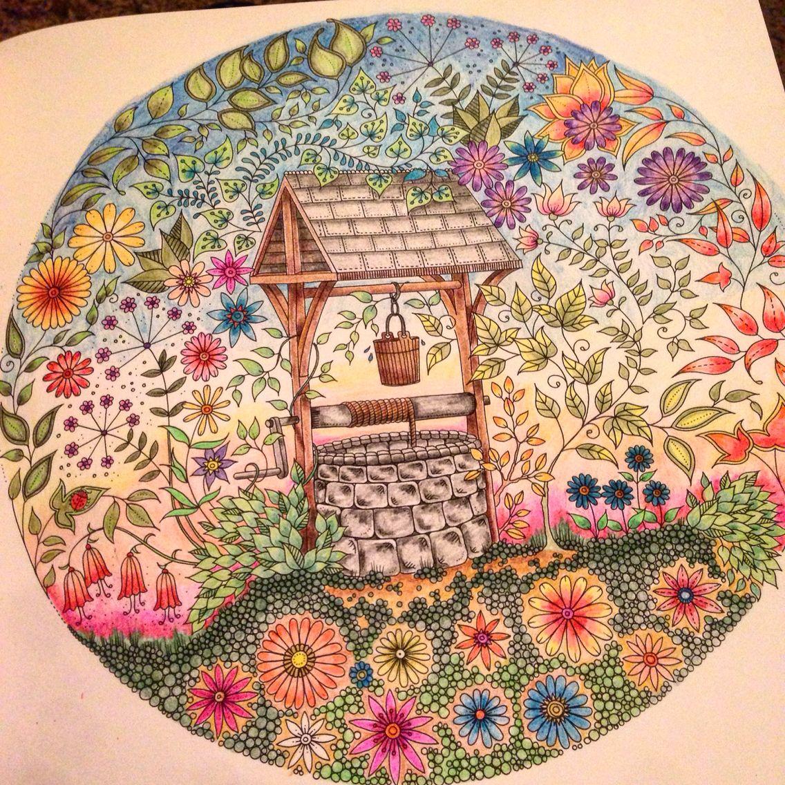 Secret Garden Colouring Book The Well Secret Garden Coloring Book Secret Garden Colouring Johanna Basford Coloring