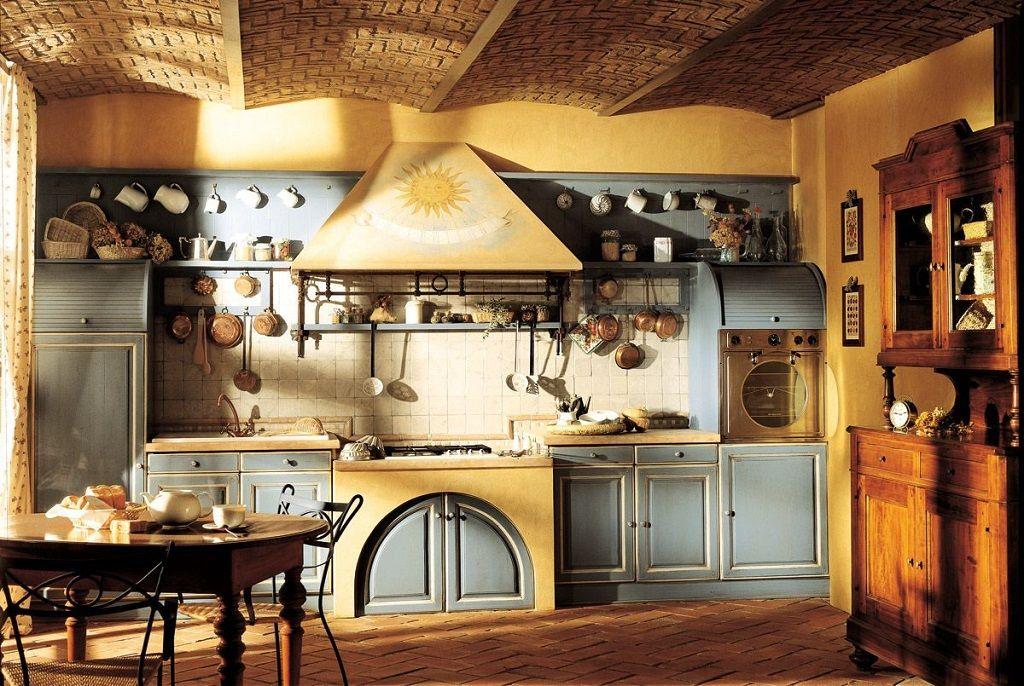 Rustic Kitchen Luminous Warm With Mediterranean Style Cocina