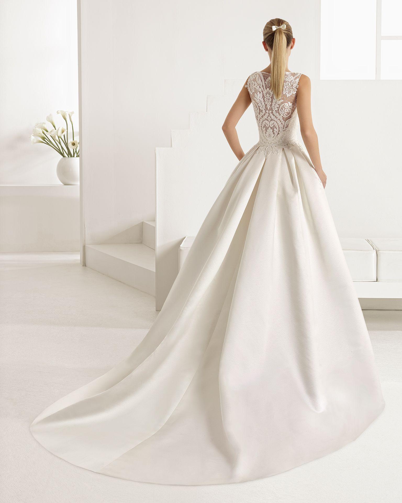 Vestidos de novia tela mikado