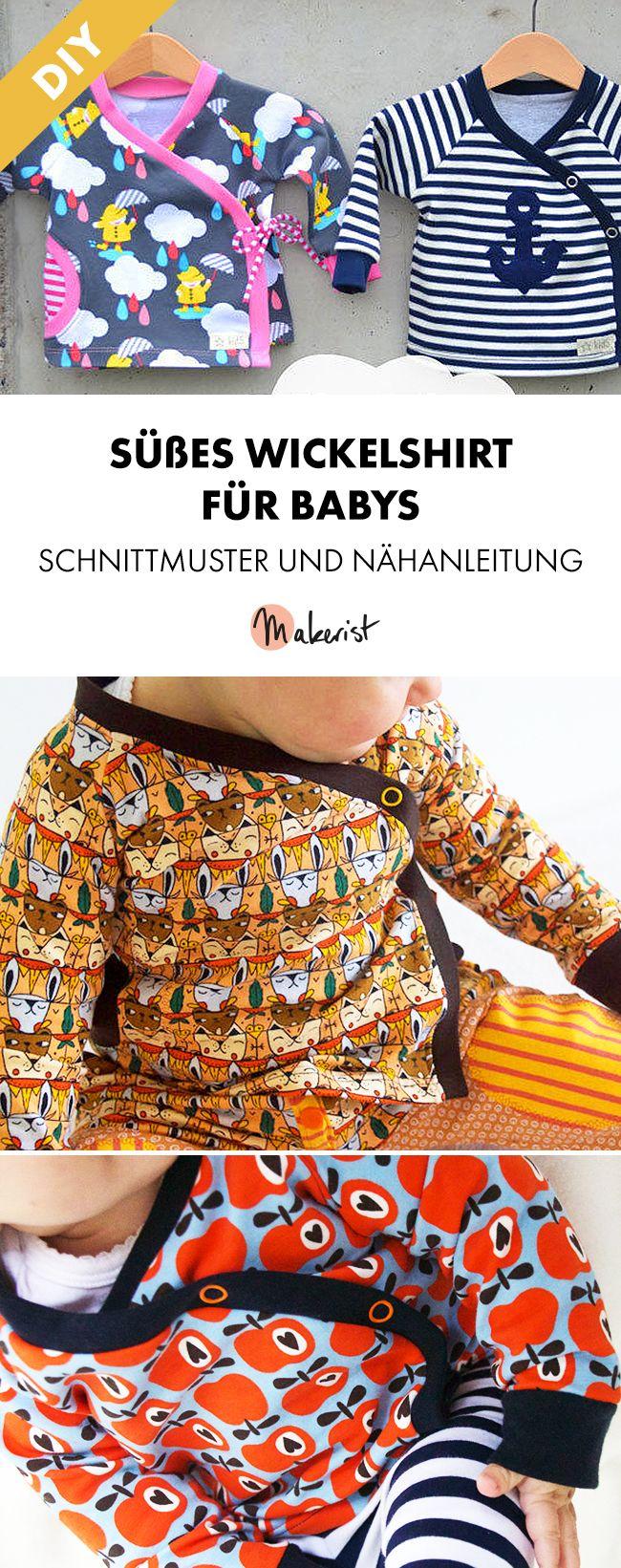 Photo of Eingewickeltes Jerseyhemd für Babys – Nähanweisungen und Muster über Makeri …
