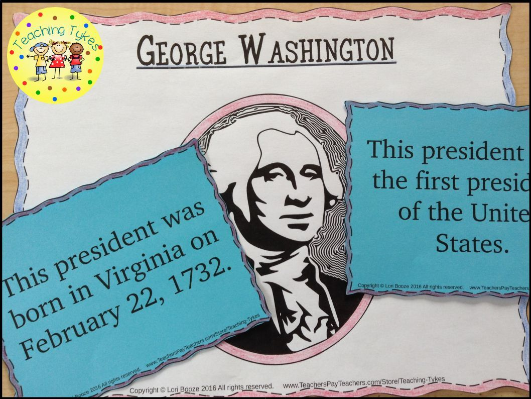 Presidents Day Matching And Writing Activity Freebie