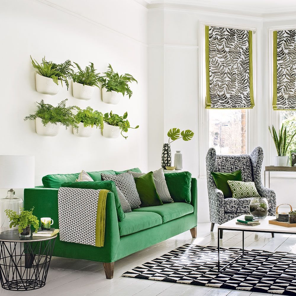 Green living room ideas for soothing, sophisticated spaces | Green ...
