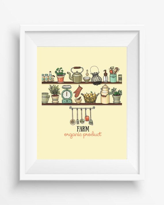 Home Kitchen,Kitchen Organic Product,vintage,farm,Home decor, Kitchen decor,digital art print,instant dowload,300 dpi,jpeg