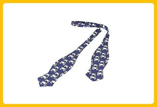 Bow Tie, Selftie, Men, Adjustable, Blue, White, Animal print, Silk, One size - Groom ties (*Amazon Partner-Link)