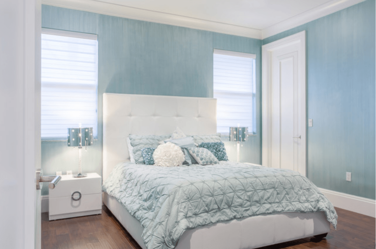 Light Blue And White Bedroom pantone airy blue | pantone, bedrooms and woods