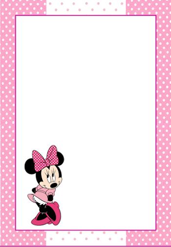 Marcos, Invitaciones, Tarjetas o Etiquetas de Minnie Mouse para ...