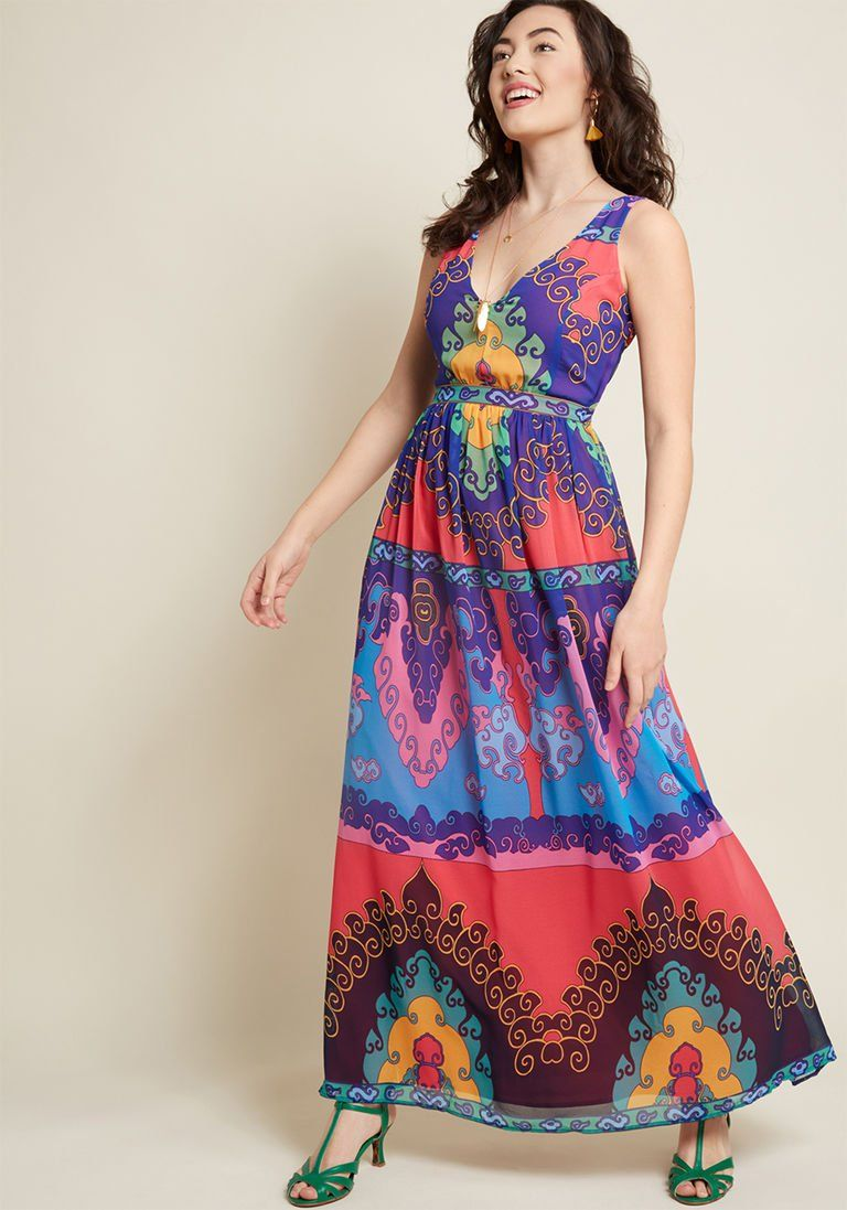 61d78d946a7 Muster the Length Maxi Dress in Indigo in S - Sleeveless by ModCloth ...