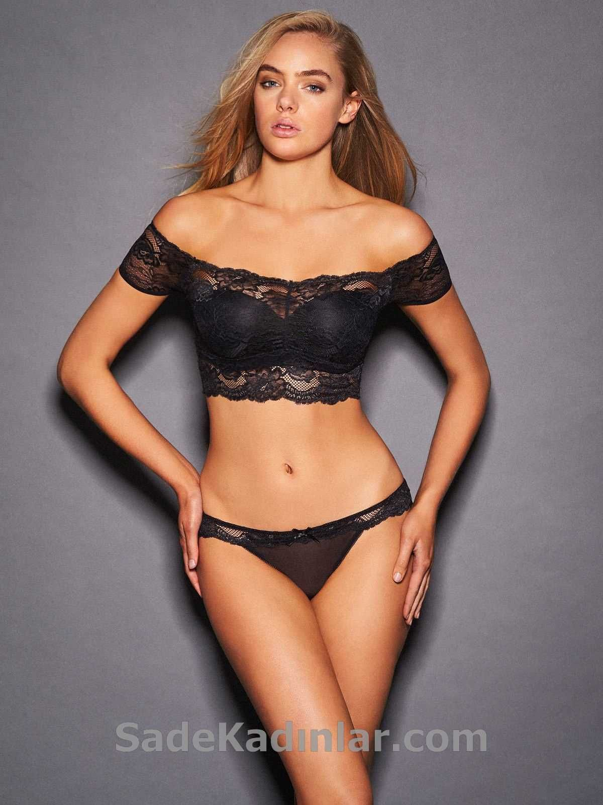 Bayan Ic Giyim Modelleri Siyah Gupur Dantel Askisiz Sutyen Kadin Ic Giyim Sac Bantlari