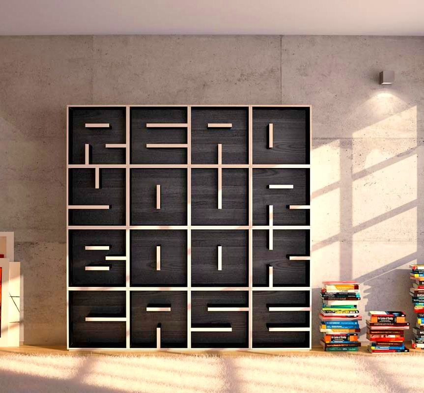 These Letter Shaped Bookcases Let You Spell Anything You Want Unusual Bookcase Bookcase Design Bookcase