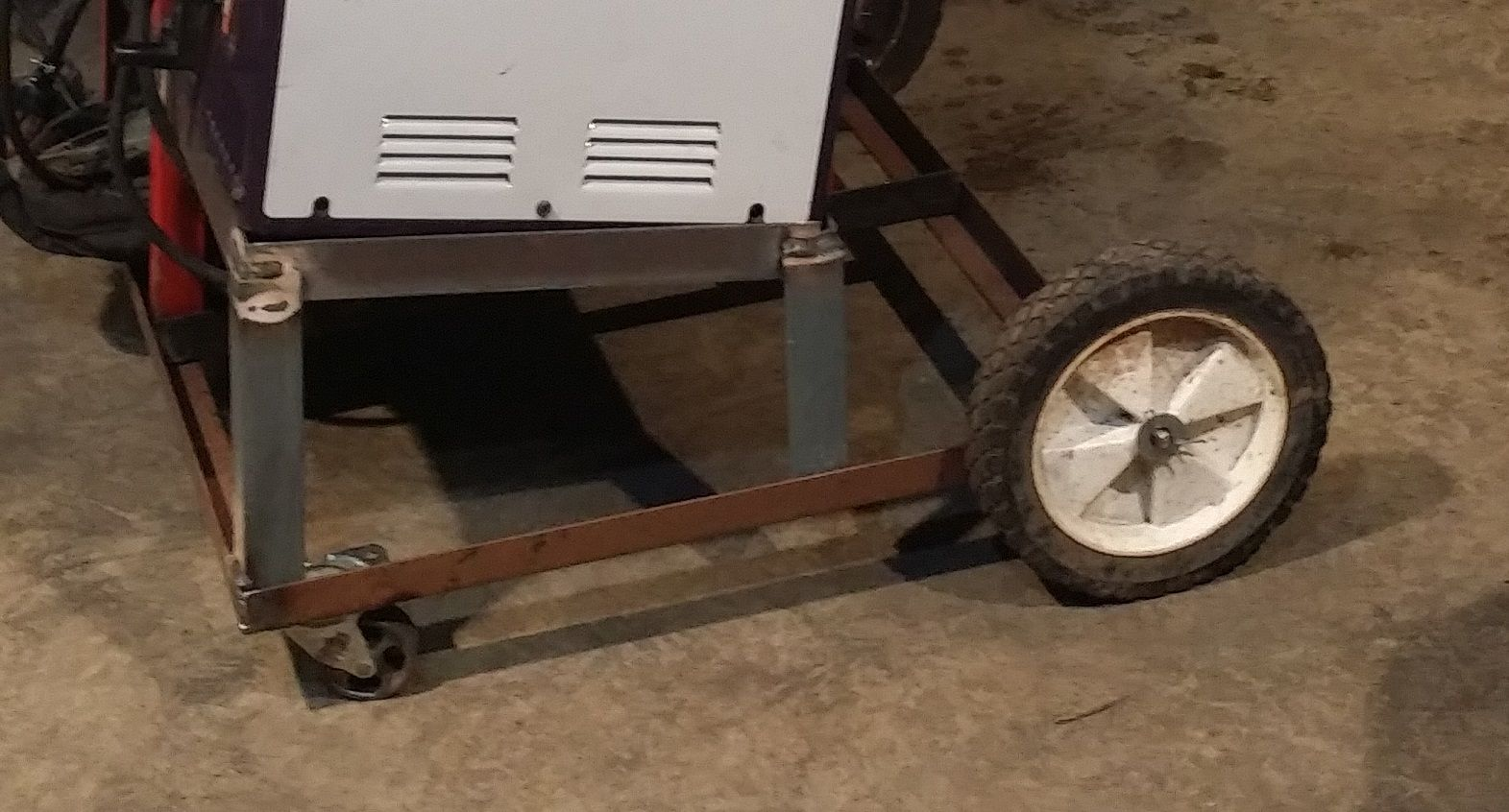 9) I got the Rear wheels, from an old air compressor I