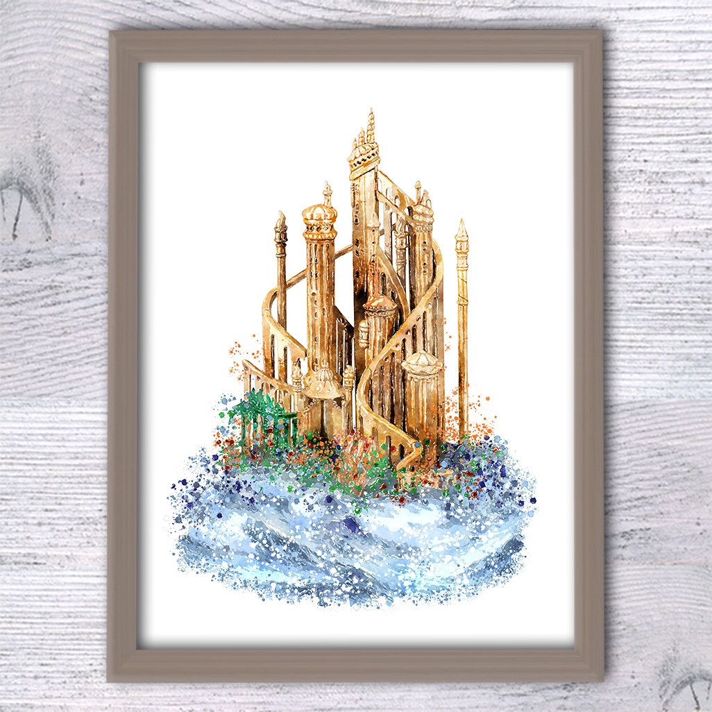 Disney Wall Decor disney ariel poster the little mermaid castle art print disney