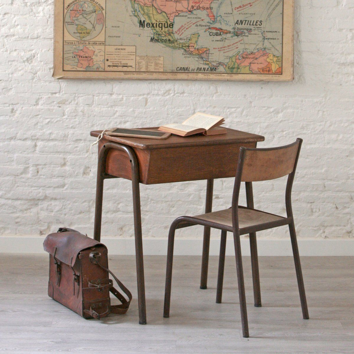 silla niños hierro y madera
