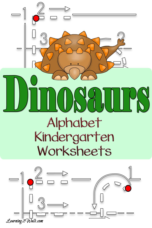 Dinosaur Alphabet Kindergarten Worksheets Kindergarten