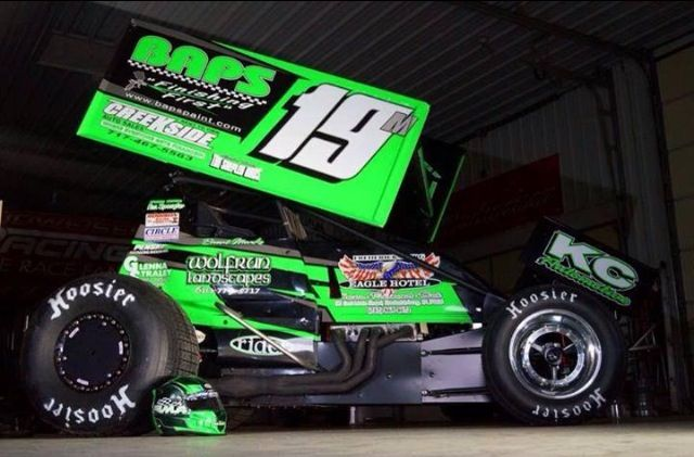 Brent 39 s 2014 knoxville nationals car dirt track racing for Dirt track race car paint schemes