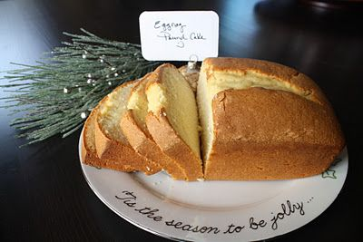 THE Eggnog pound cake. Amazingly easy and delicious!