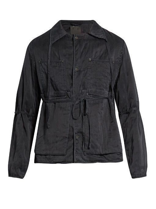 Craig Green Self Fastening Sandwashed Silk Jacket Craiggreen Cloth Jacket Menswear Silk Jacket Craig Green