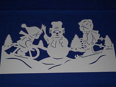 Fensterbild tonkarton winter weihnacht schlitten skier kinder deko filigran top winter - Fensterbilder weihnachten basteln kostenlos ...