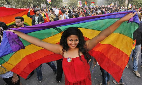 India Marks LGBT Community's Advances With Colorful Parade. Still, being LGBT is seen as shameful in most of the country.