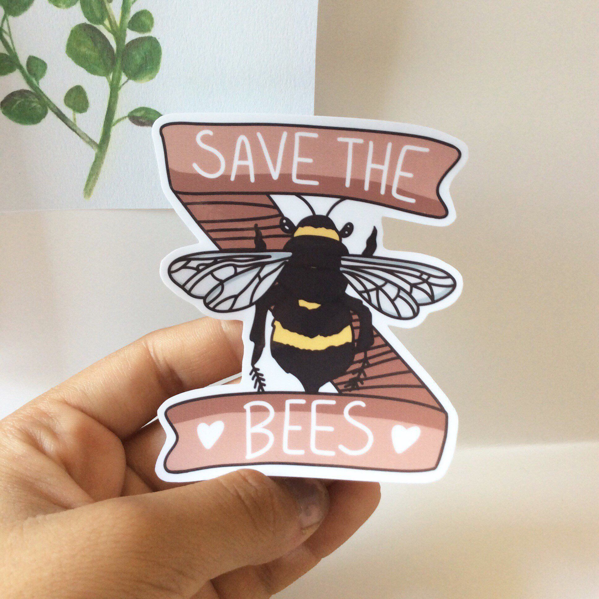 Save the Bees Laptop Sticker