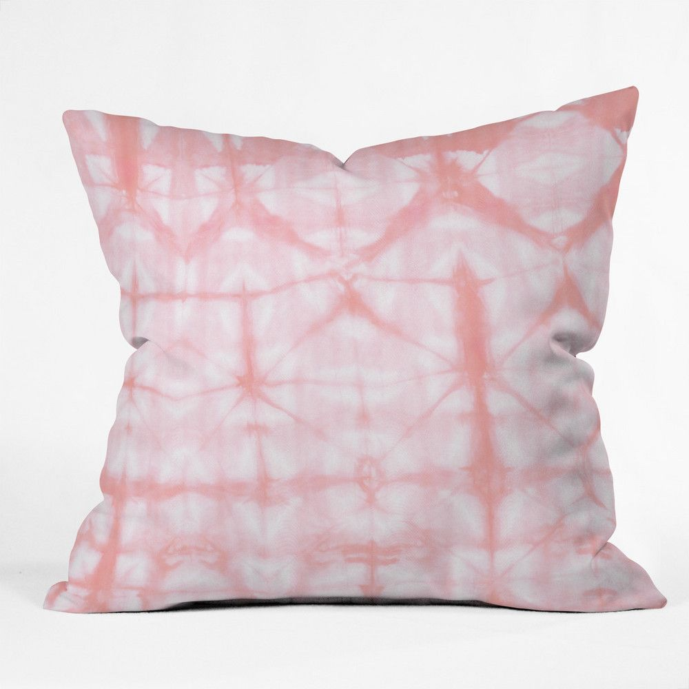 Amy Sia Tie Dye 2 Pink Throw Pillow Deny Designs 44 99 Domino