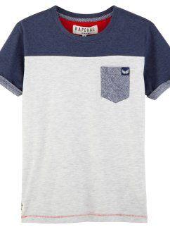 Camiseta color block de algodón niño KAPORAL