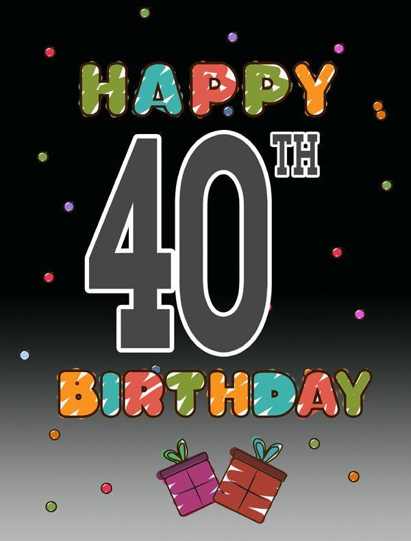 Happy 40th Birthday 2 Sided Garden Flag