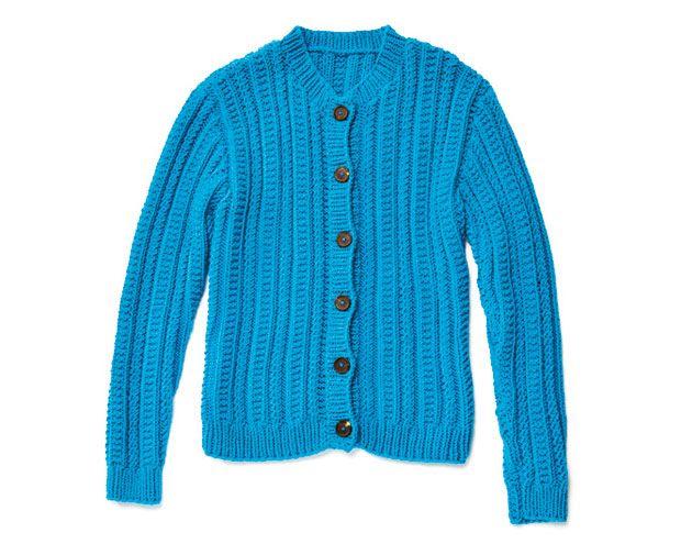 Strickmuster: Trachtenjacke stricken - eine Anleitung - BRIGITTE