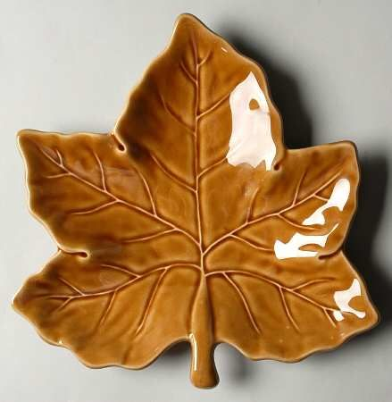 Fall Leaf Shaped Salad Plates Pottery Barn Harvest Leaf