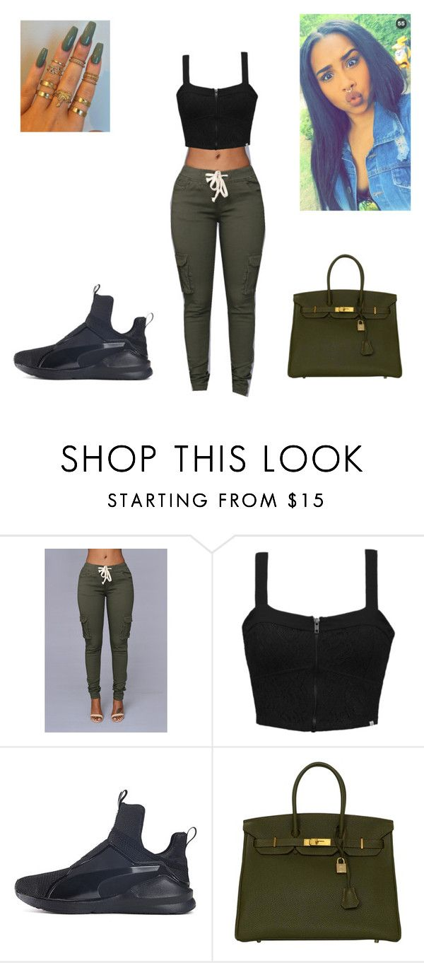 """""""Untitled #113"""" by fashionon01 ❤ liked on Polyvore featuring Element, Puma and Hermès"""