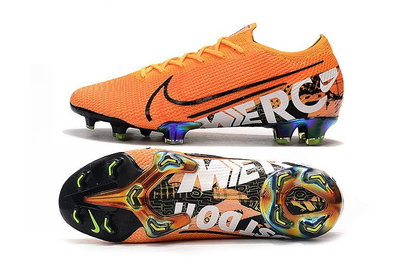 White And Orange Nike Soccer Cleats