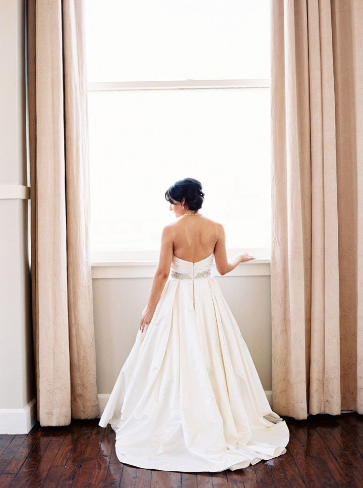 A strapless sweetheart wedding dress | itakeyou.co.uk