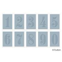 Bilde av produkt: Sizzix - Tim Holtz Alterations - Texture Fades - Numbers Set Embossing folders