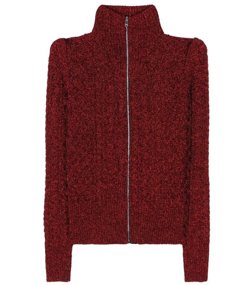Daley red metallic sweater