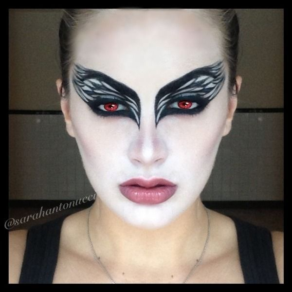 halloween black swan look face painting for all ages and occasions pinterest costumes and. Black Bedroom Furniture Sets. Home Design Ideas