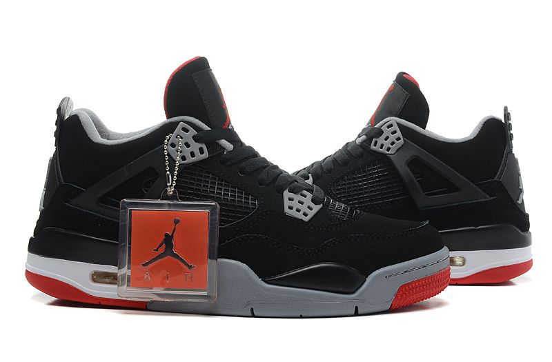 Discount Air Jordan 4 Retro Gs Bred BlackCement Grey fire