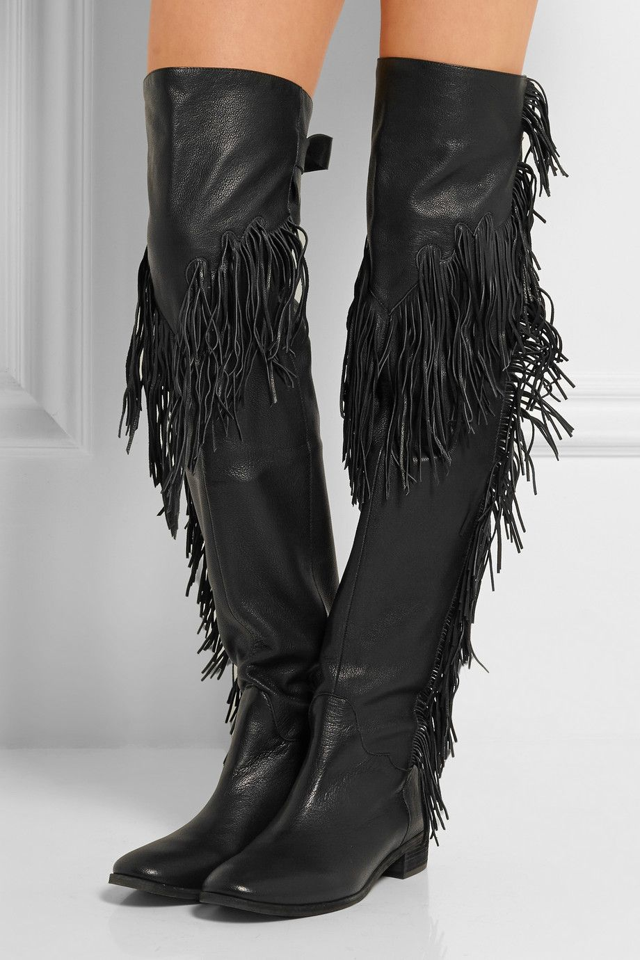 See by Chloé fringed leather over-the-knee boots | My Style ...