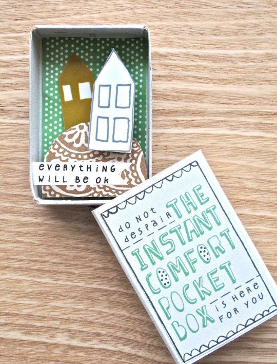 Instant Comfort Pocket Box two houses on a by kimslittlemonsters, €7.95