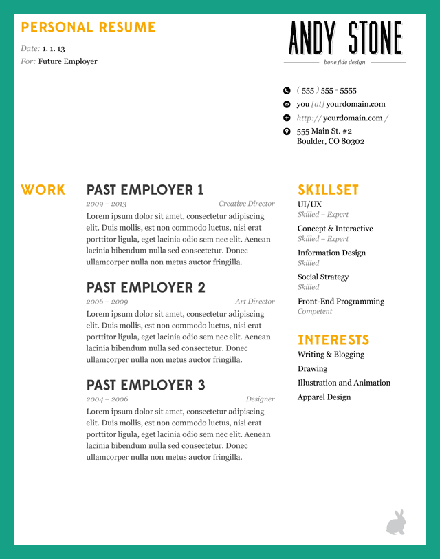 How to Make Resume eyecatching application letter A resume is