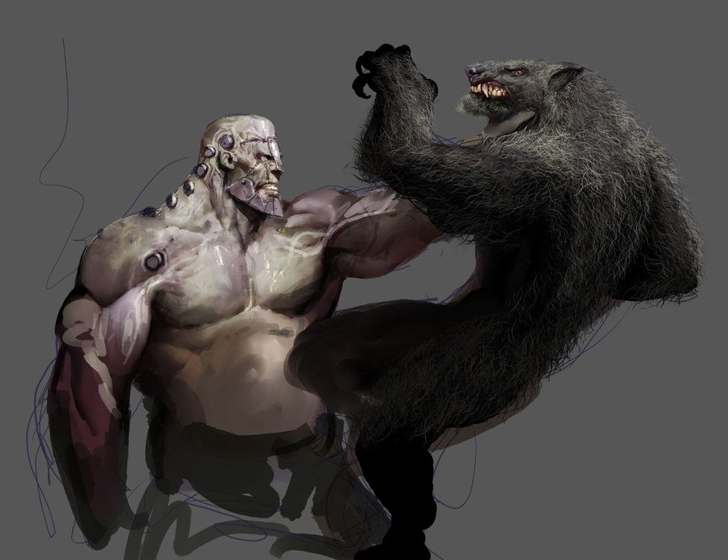 frank smash wolfie by nebezial   werewolves   Pinterest   Hombres ...