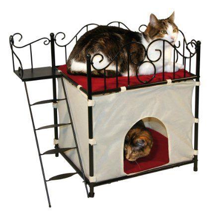 Kerbl 82575 Katzenhäuschen DIVA aus Metall 60 x 36 x 54 cm
