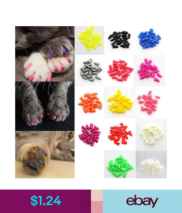 20Pc Colorful 7Color Cute Soft Nail Caps For Cat Claws