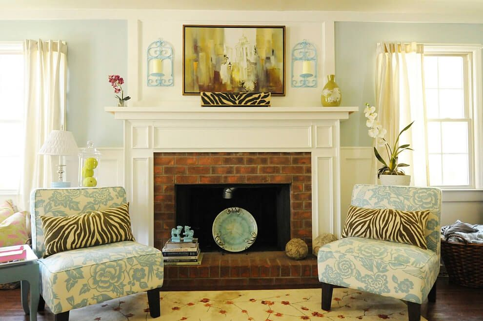 Red Brick Fireplace Makeover Ideas Intended For Elegant