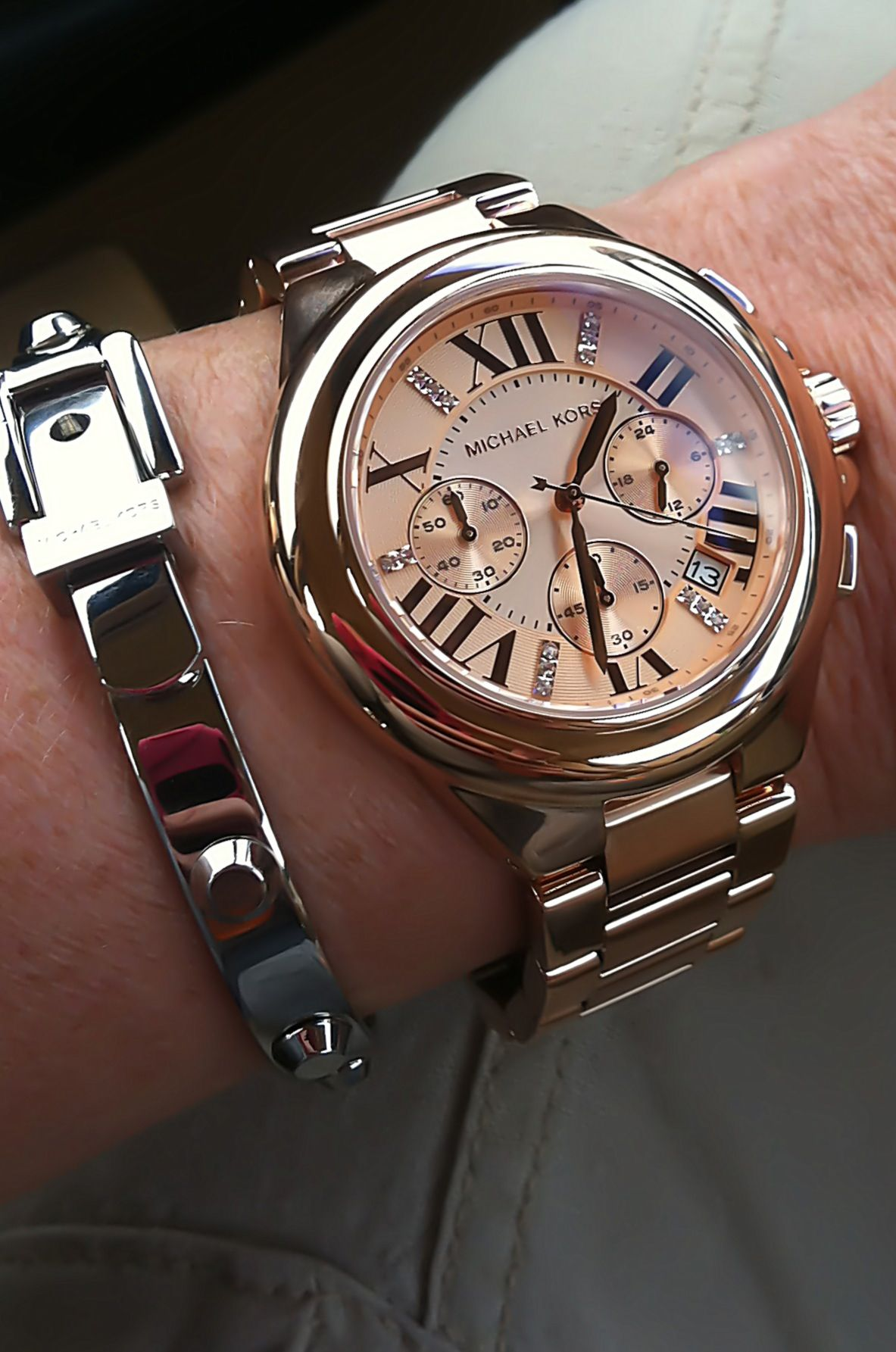 Michael Kors watch and bracelet. This is the one! Love!!   Relogio ... baee164819