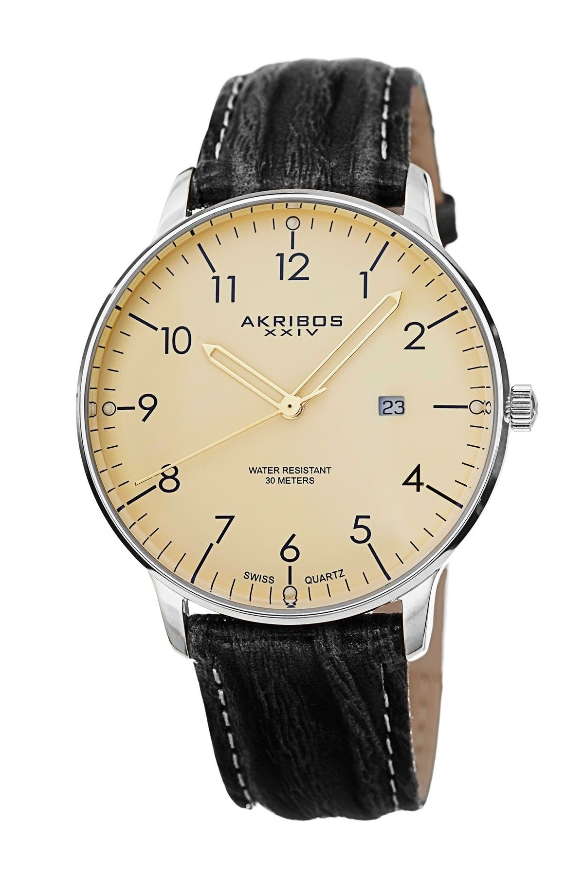 5cf9a40910f Akribos XXIV Men s Date Swiss Quartz Watch